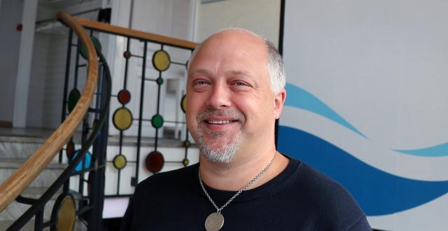Roger Wiklund som driver Skrea Camping & Stugby och Hotell Vesterhavet i Falkenberg