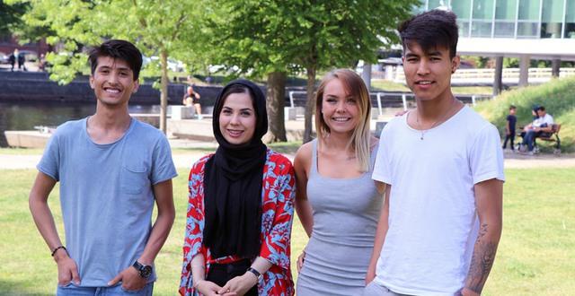 Rabi Tajik, Sabereh Rezaei, Sara Karlsson och Janagha Karimi är med i mentorskapsprogrammet Näktergalen.
