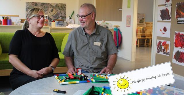 Elizabeth Johansson och Ola Persson på Skogstorps förskola är mycket nöjda med utbildningssatsningen Välmående ger resultat som hela arbetslaget nu genomför tillsammans.